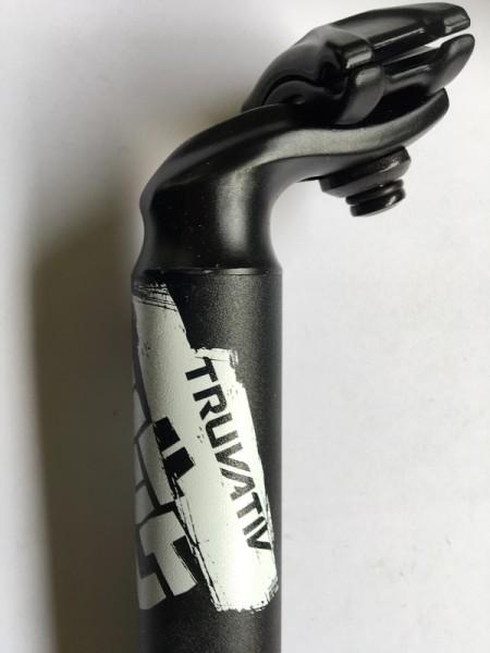 Sattelstütze Hussefelt 31,6mmx350 mm 20mm Offset Matt-Schwarz