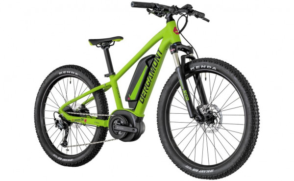 Komplettbike E-Revox Junior, 24 Grün/Schwarz