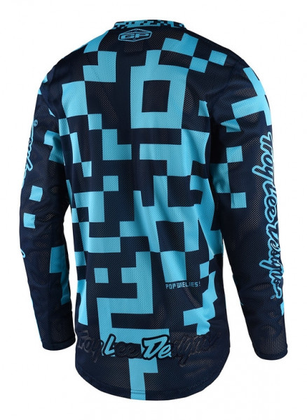 Jersey langarm GP Air Youth Maze Turquoise/Navy
