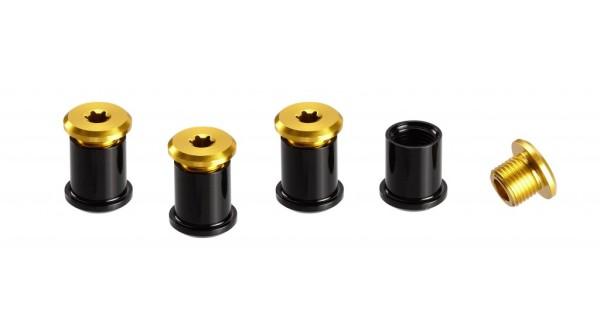 Kettenblattschrauben 1-fach für Bash-G. 4 Stk. Gold