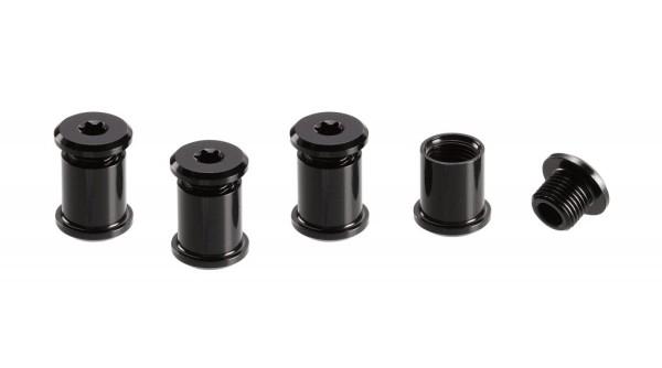 Kettenblattschrauben 1-fach für Bash-G. 4 Stk. Black