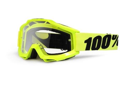 100% - Accuri Anti Fog Clear Lens Fluo Yellow