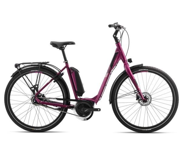 E-Komplettbike Optima 18 Asphalt 20 mit Federgabel + gefederter Sattelst., Karminrot/Schwarz