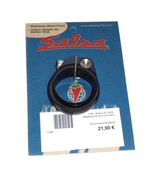 Salsa - Lip Lock Sitzrohrklemme 36,4mm Schwarz