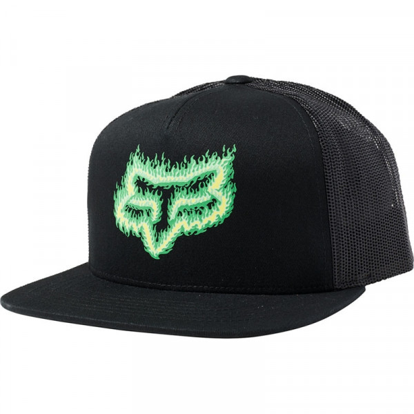 Mütze Snapback Flame Hat OS Black/Green